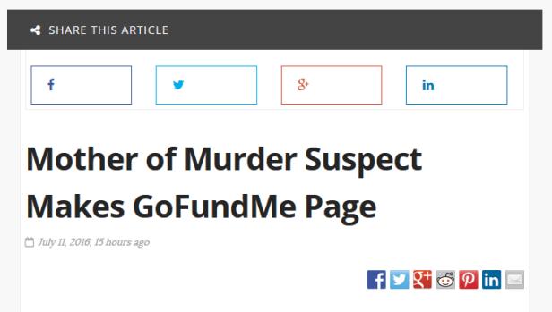 Murder Suspect headline