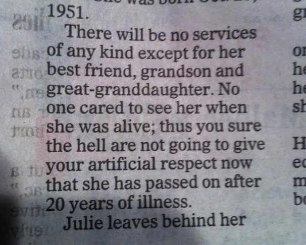 Best obituary evar