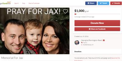 Jaxon Gofundme campaign