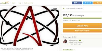 Atheist donation Gofundme