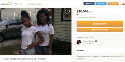 Kill trump gofundme