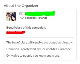 GoFundMe donation