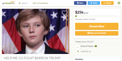 Fight Barron Trump GoFundMe