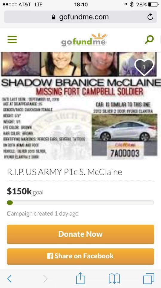 Shadow McClaine GoFundMe