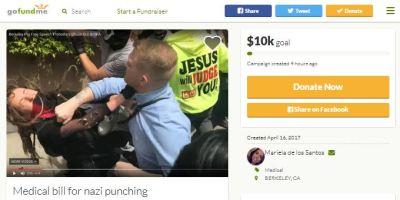 Nazi punching Gofundme