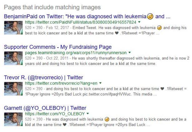 Cancer scam kid