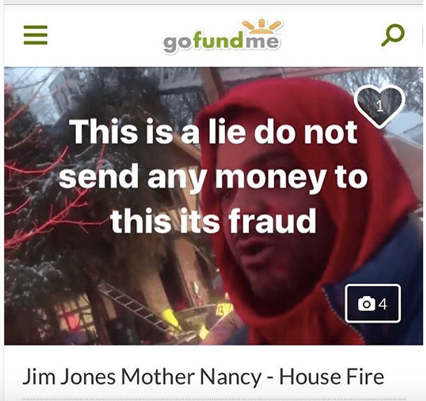 Jim Jones Instagram GoFundMe