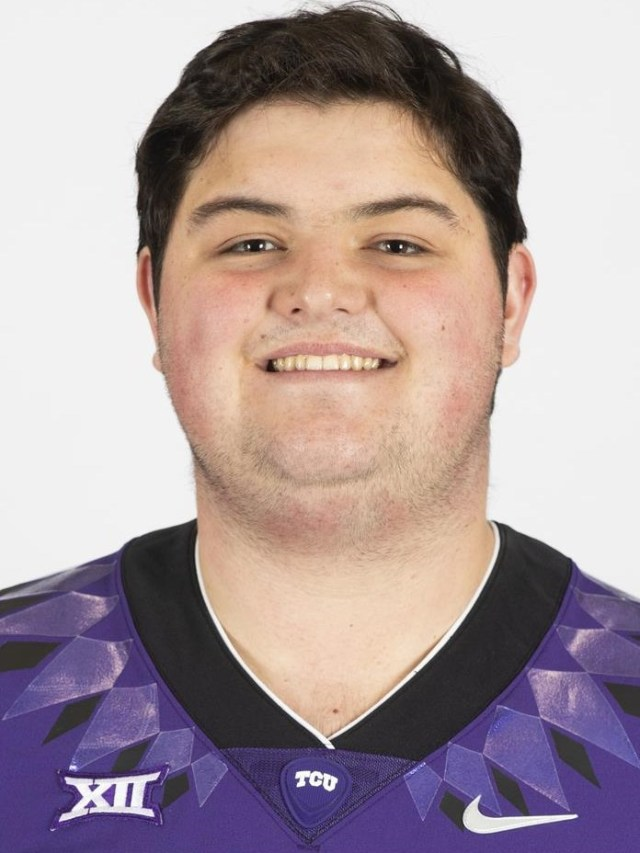 TCU Football Jack Niland photographed in Fort Worth, Texas on February 10. 2020. (Photo/Sharon Ellman)