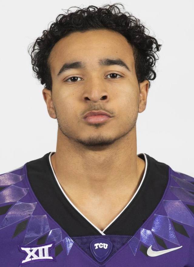TCU Football Alijah Wood photographed in Fort Worth, Texas on February 13, 2020. (Photo/Sharon Ellman)