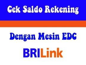 Cek Saldo Rekening dengan Mesin EDC