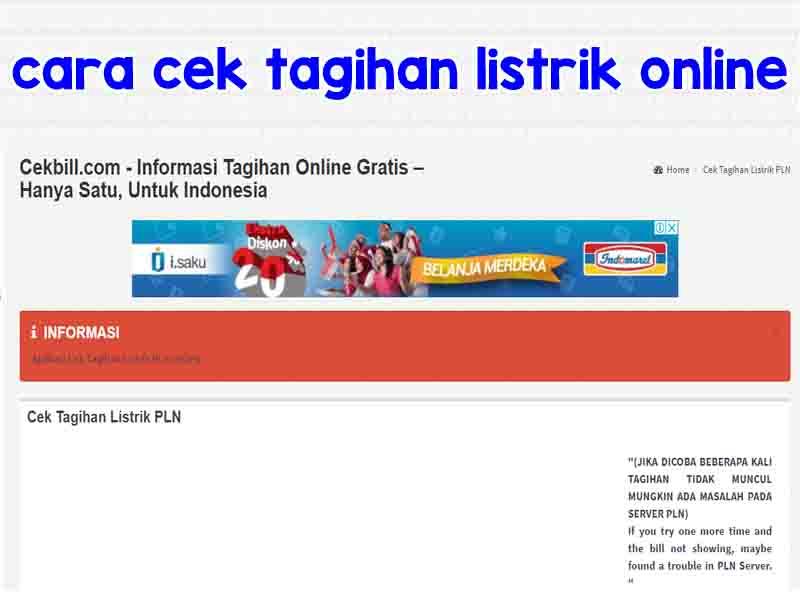 Cara Cek Tagihan Listrik di Website PLN