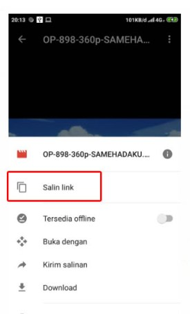 limit google drive di android