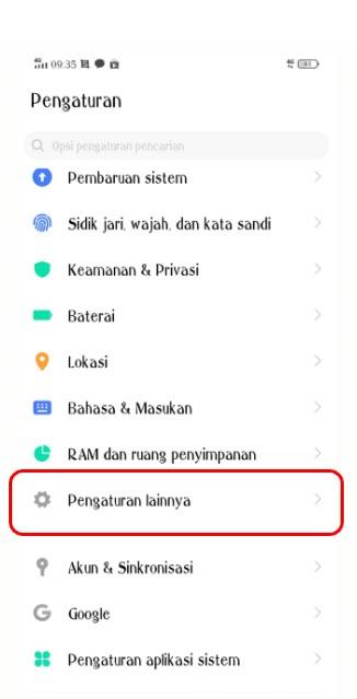 Cara log out dari aplikasi LINE di Android