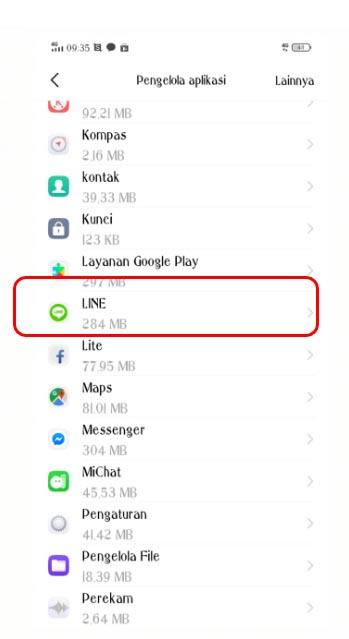 Cara log out dari aplikasi LINE di Android2