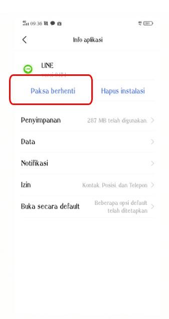 Cara log out dari aplikasi LINE di Android4