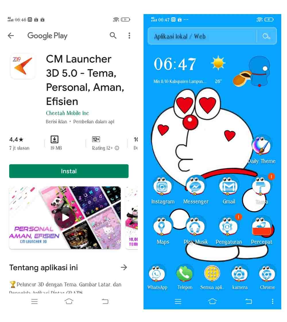 √ Download Aplikasi Tema Doraemon Lucu Dan Cara Memasangnya