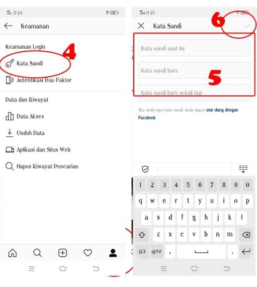 Cara Mengganti Password Instagram hp