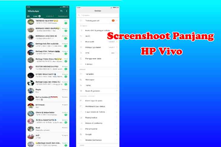 Cara Screenshot Panjang di HP Vivo