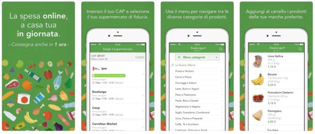 app per consegne a domicilio supermercato24