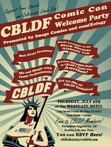 CBLDF Welcome Party SDCC15