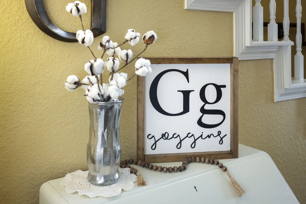 Last Name and Monogram Handmade Solid Wood Sign