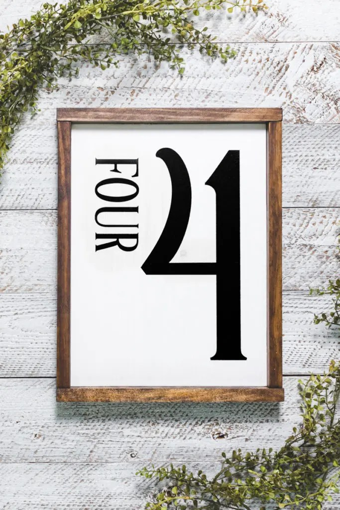 Number Four Handmade Solid Wood Sign