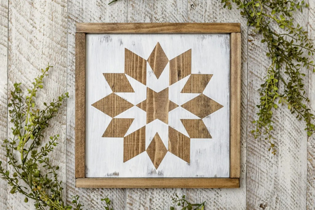 Beautiful Pattern Handmade Solid Wood Sign