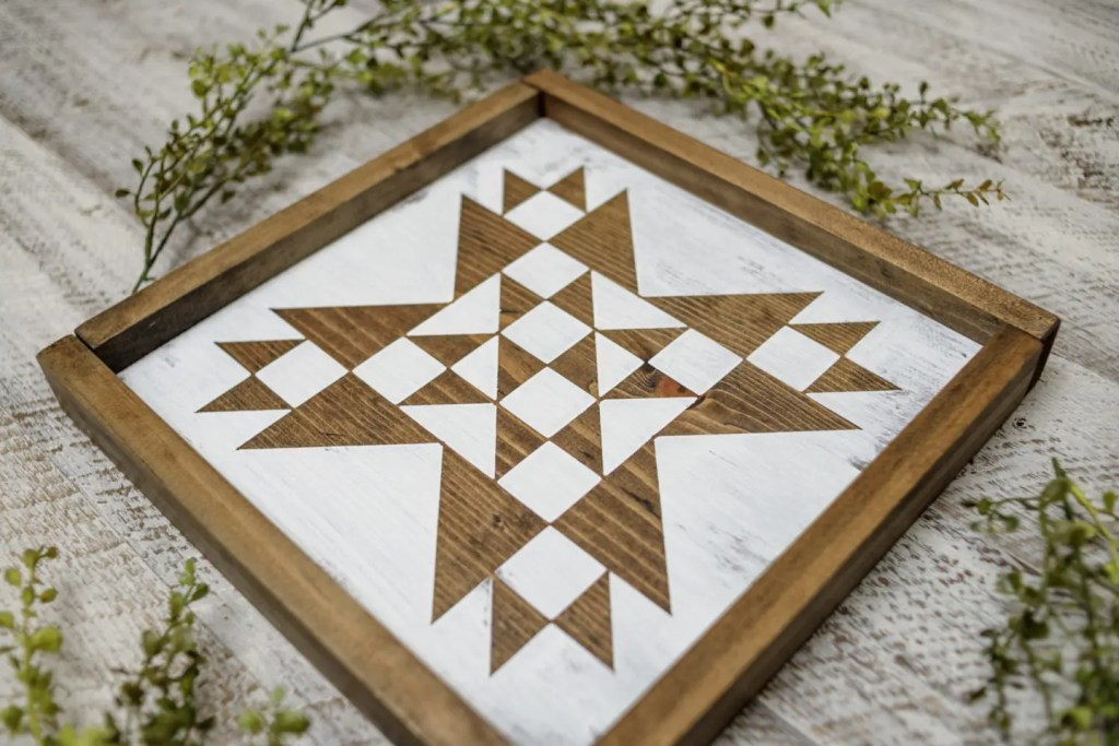 Pattern Handmade Solid Wood Sign