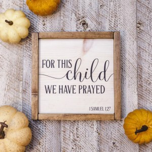 Answered Prayer Handmade Solid Wood Sign