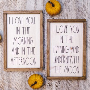Love Handmade Solid Wood Sign