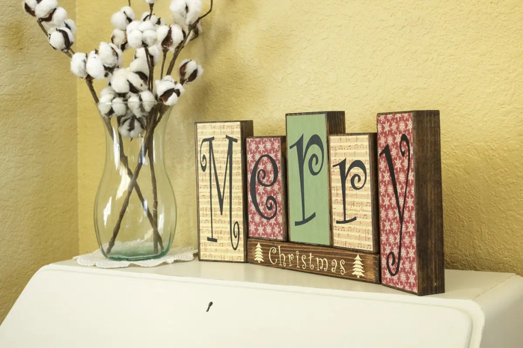 Christmas Handmade Solid Wood Sign
