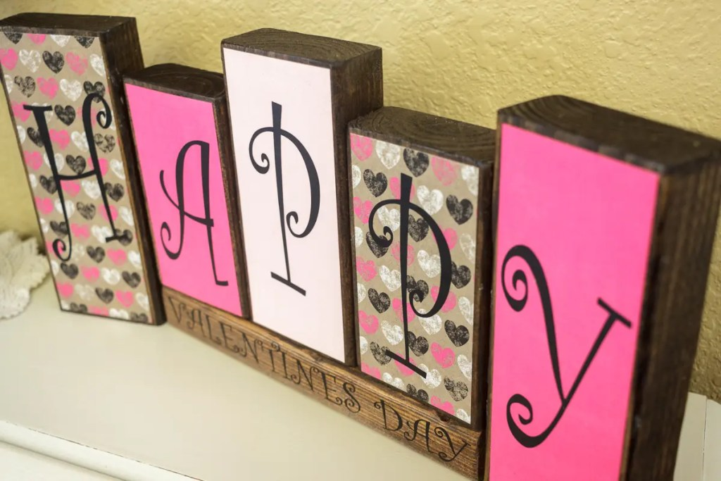 Valentine's Day Handmade Solid Wood Sign