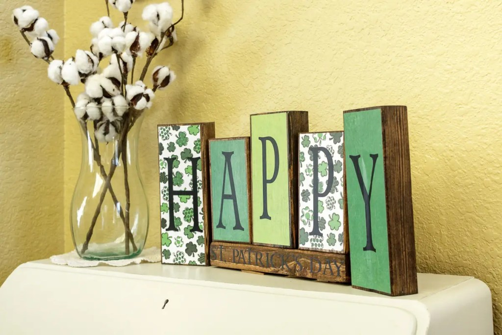 St. Patrick's Day Handmade Solid Wood Sign