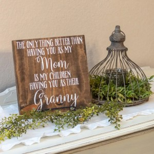 Granny Handmade Solid Wood Sign
