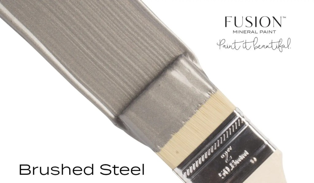 Fusion Mineral Paint Brushed Steel