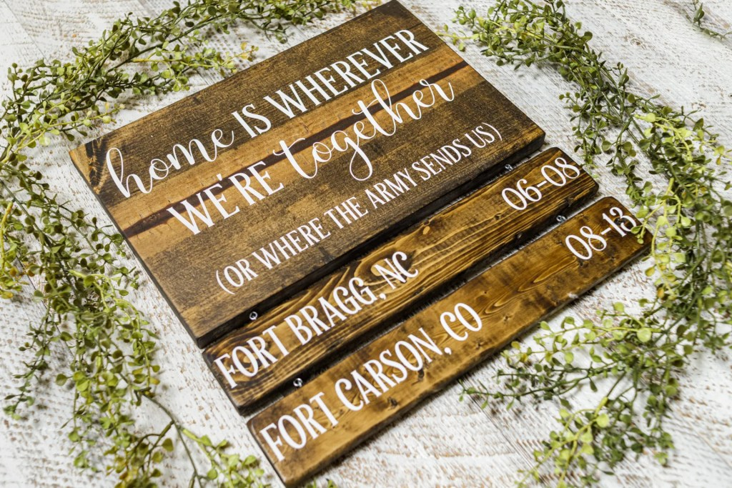 Army Handmade Solid Wood Sign