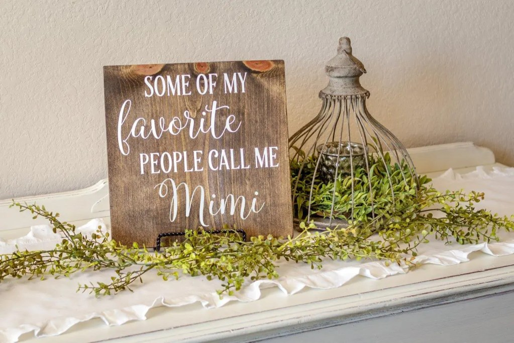 Mimi Handmade Solid Wood Sign