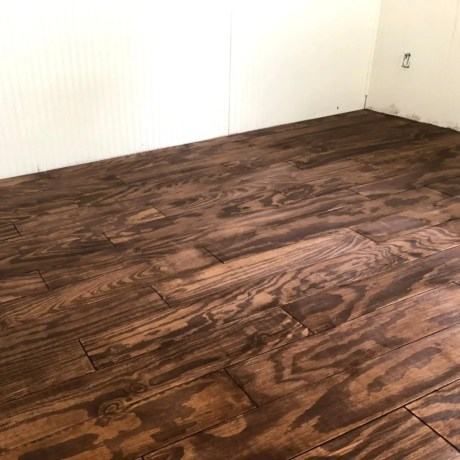 Stained Plywood Floors
