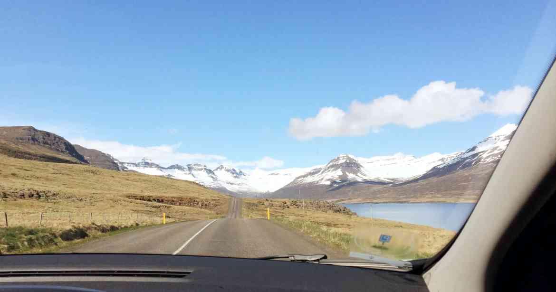 Ausblick beim Roadtrip Island