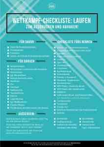 Checkliste zum Laufwettkampf
