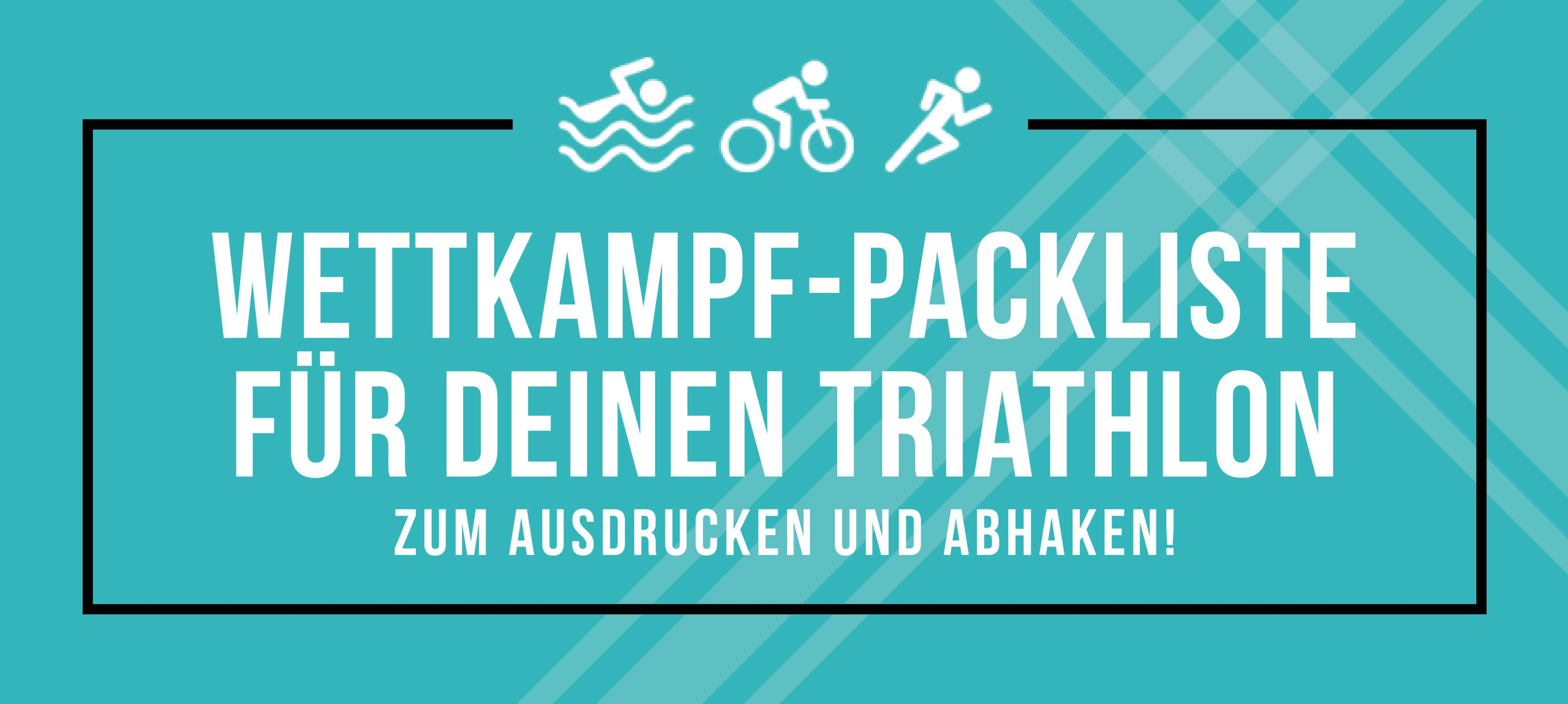 Checkliste zum Triathlon-Wettkampf