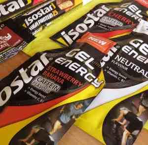 Wettkampfernährung: Energy Gels von Isostar