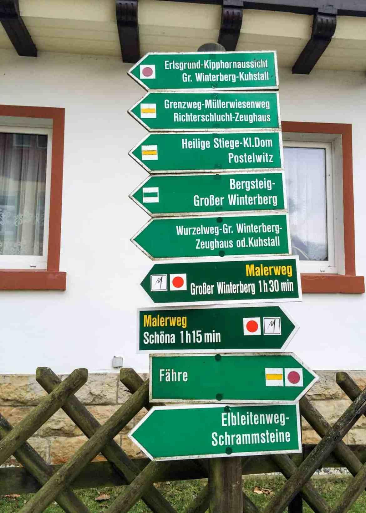 Wandern in der Sächsischen Schweiz in Schmilka