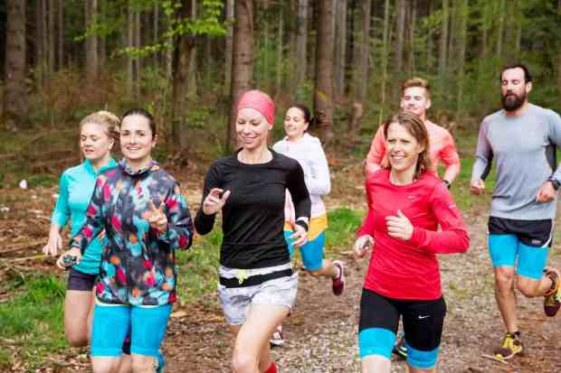 Trail Run Starnberger See in Kompressionsprodukten für Läufer
