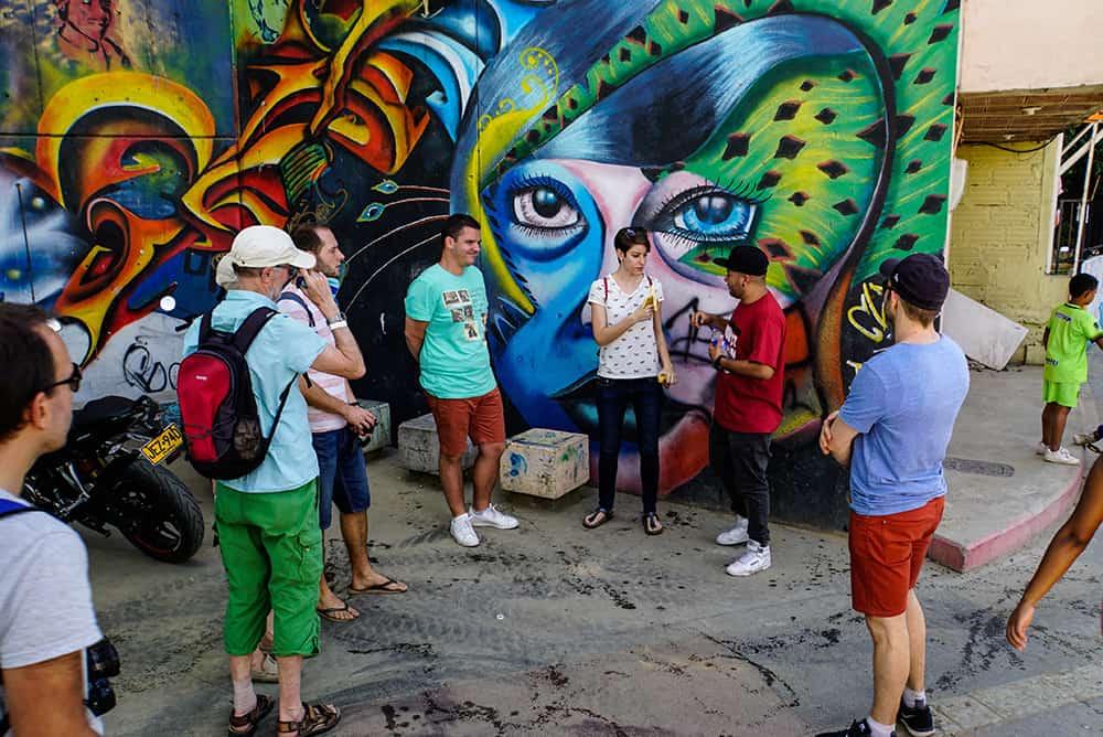 Graffiti Tour in der Graffiti in der Comuna 13 in Medellín