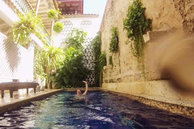 Pool im Casa Pizarro Hotel