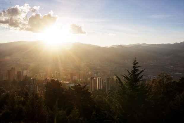 Sonnenuntergang beim Mirador Las Palmas