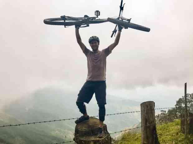 Willi beim Mountainbiking