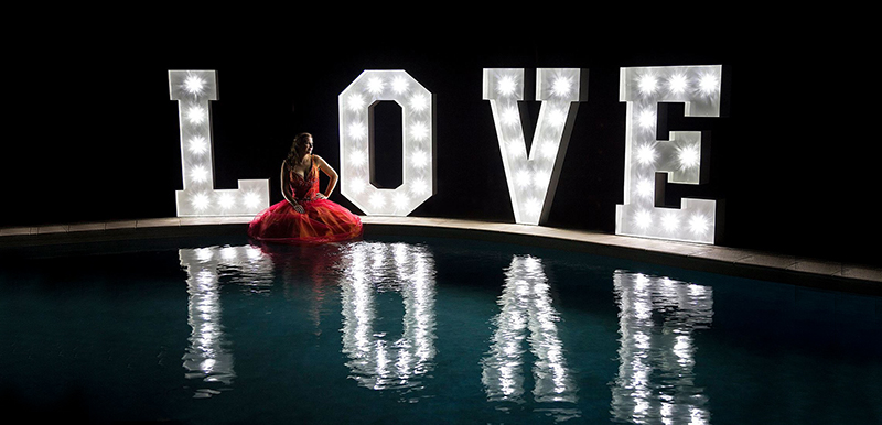GoGlow Party Hire Wedding Letter Hire