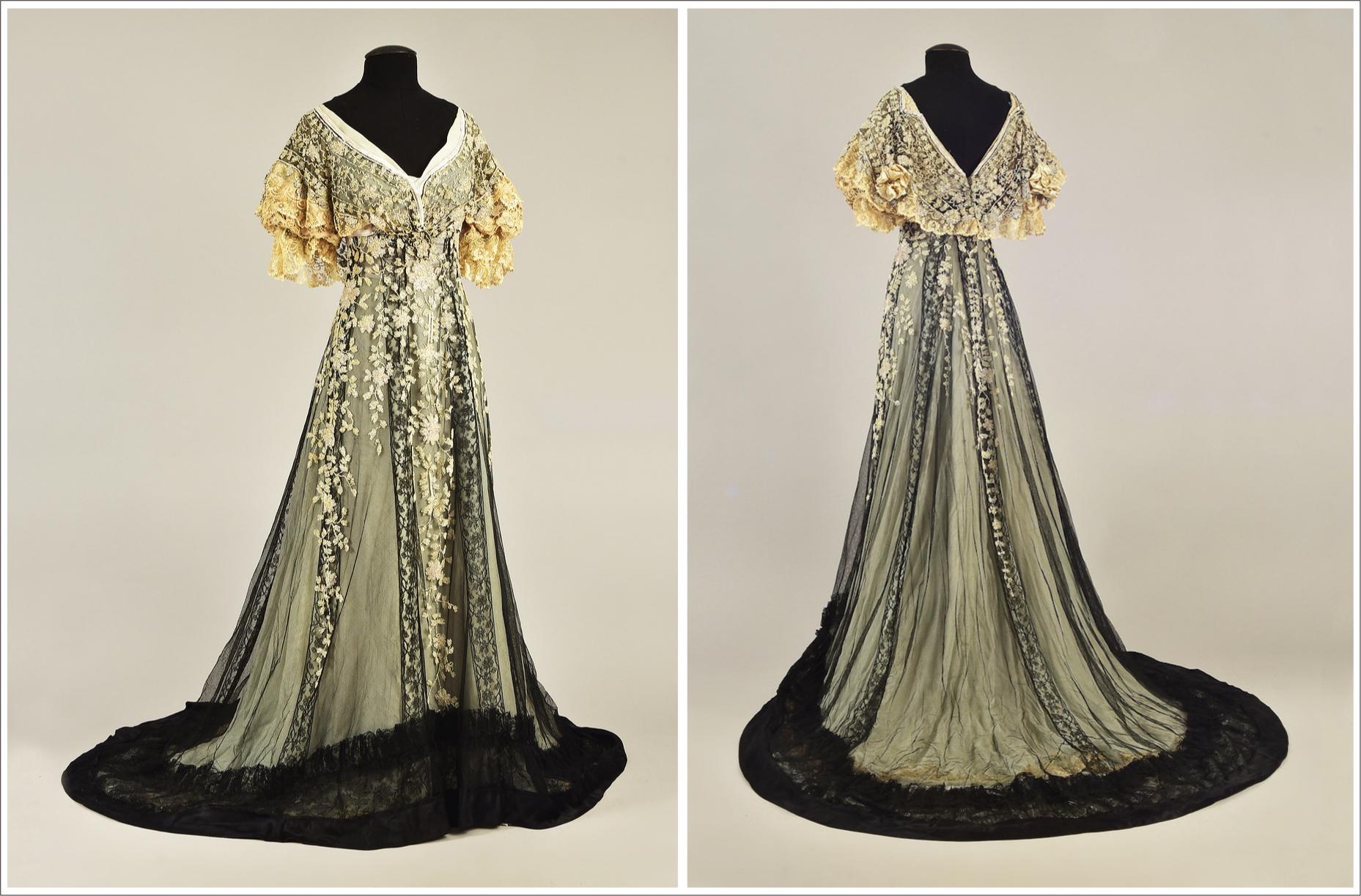 Ca. 1907 Dress Of Consuelo Vanderbilt Attributed To Callot